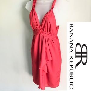 Banana Republic Cocktail Dress, Coral, Size 2